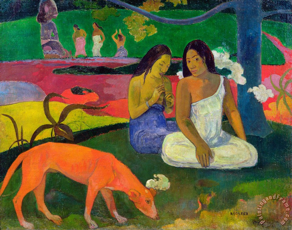 The Red Dog painting - Paul Gauguin The Red Dog Art Print