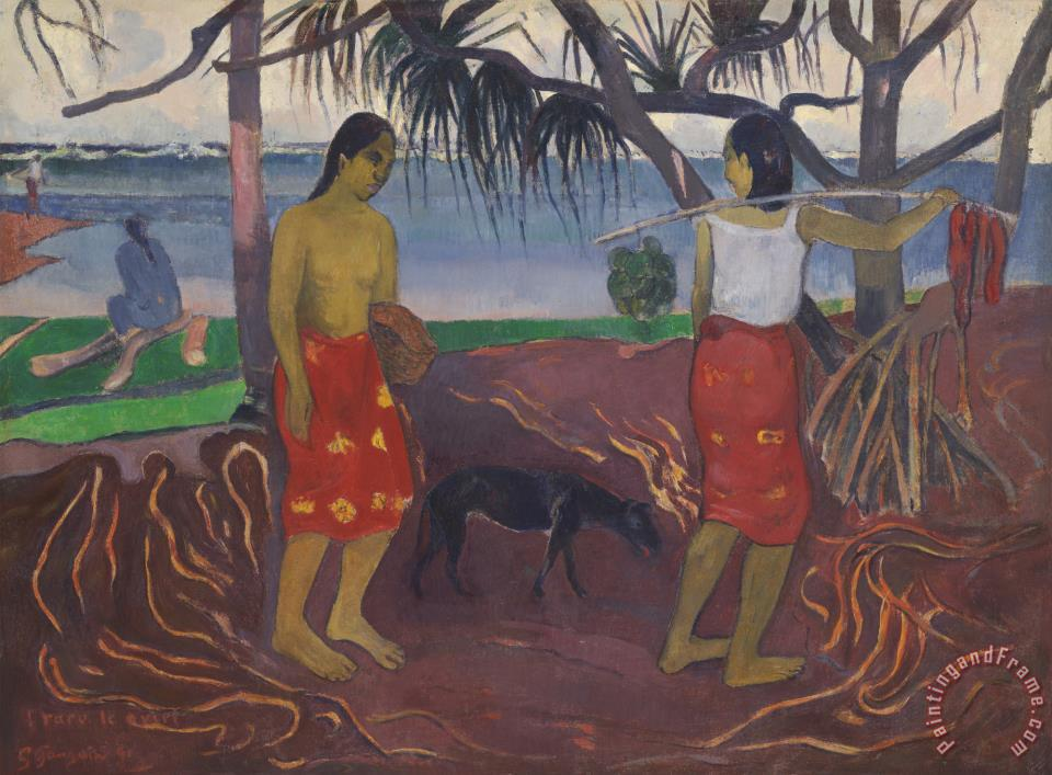 Under The Pandanus (i Raro Te Oviri) painting - Paul Gauguin Under The Pandanus (i Raro Te Oviri) Art Print