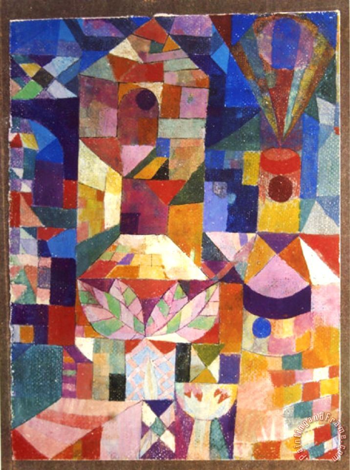 Paul Klee Garden View Painting Garden View Print For Sale