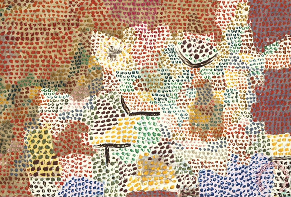 Paul Klee Just Like A Garden Run Wild Wie Ein Verwilderter Garten