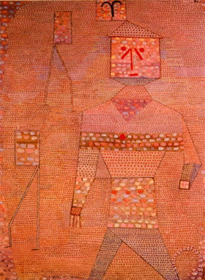 Paul klee le general en chef des barbares painting le general en chef des b - Le grill des barbares ...