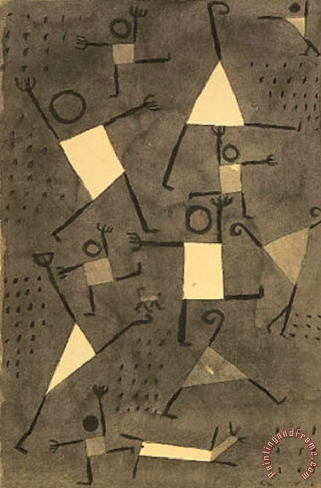 Paul Klee Tanze Vor Angst painting