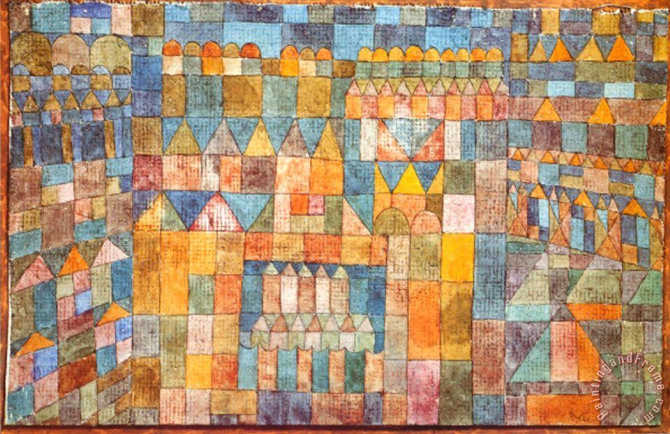 Paul Klee Tempelviertel Von Pert C 1928 Painting