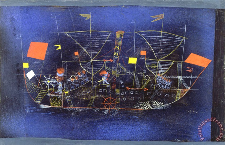 Paul Klee The Adventure Ship 1927 Painting The Adventure