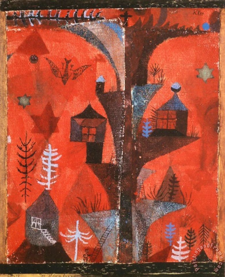 Paul Klee The Houses Tree Painting The Houses Tree Print