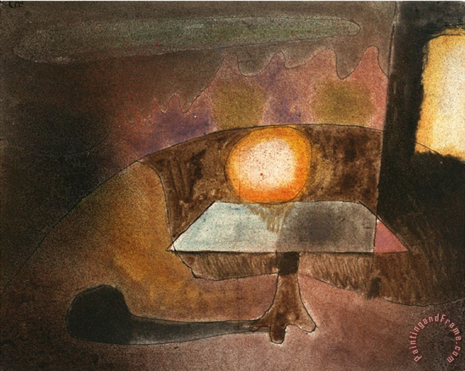 The Lamp on The Terrace Die Lampe Auf Dem Balcon 1925 painting - Paul Klee The Lamp on The Terrace Die Lampe Auf Dem Balcon 1925 Art Print