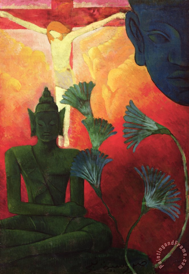 Christ and Buddha painting - Paul Ranson Christ and Buddha Art Print