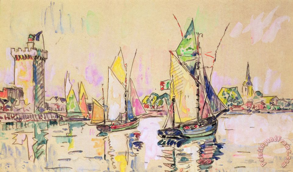 paul signac sailing boats at les sables d olonne painting sailing boats at les sables d olonne. Black Bedroom Furniture Sets. Home Design Ideas