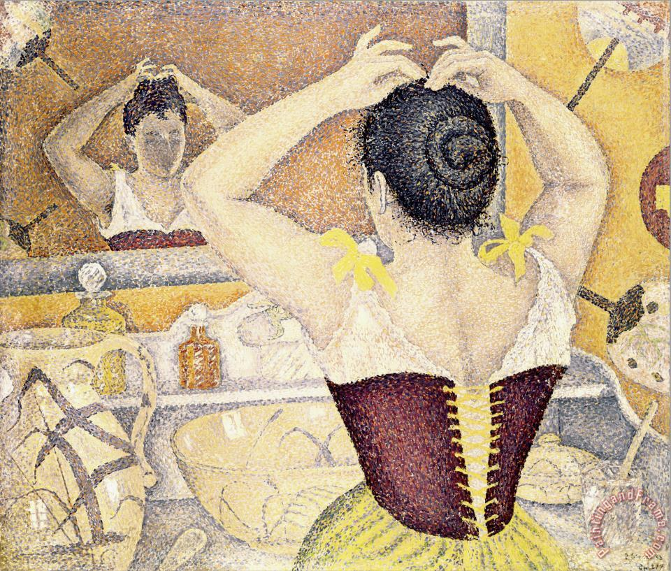 Woman at Her Toilette Wearing a Purple Corset painting - Paul Signac Woman at Her Toilette Wearing a Purple Corset Art Print