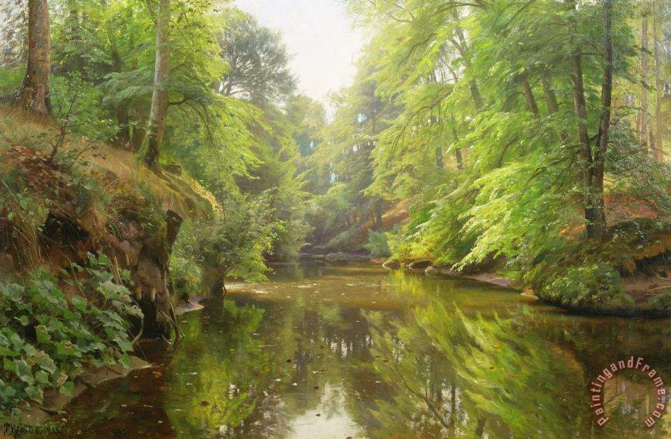 Peder Monsted The Quiet River Painting The Quiet River