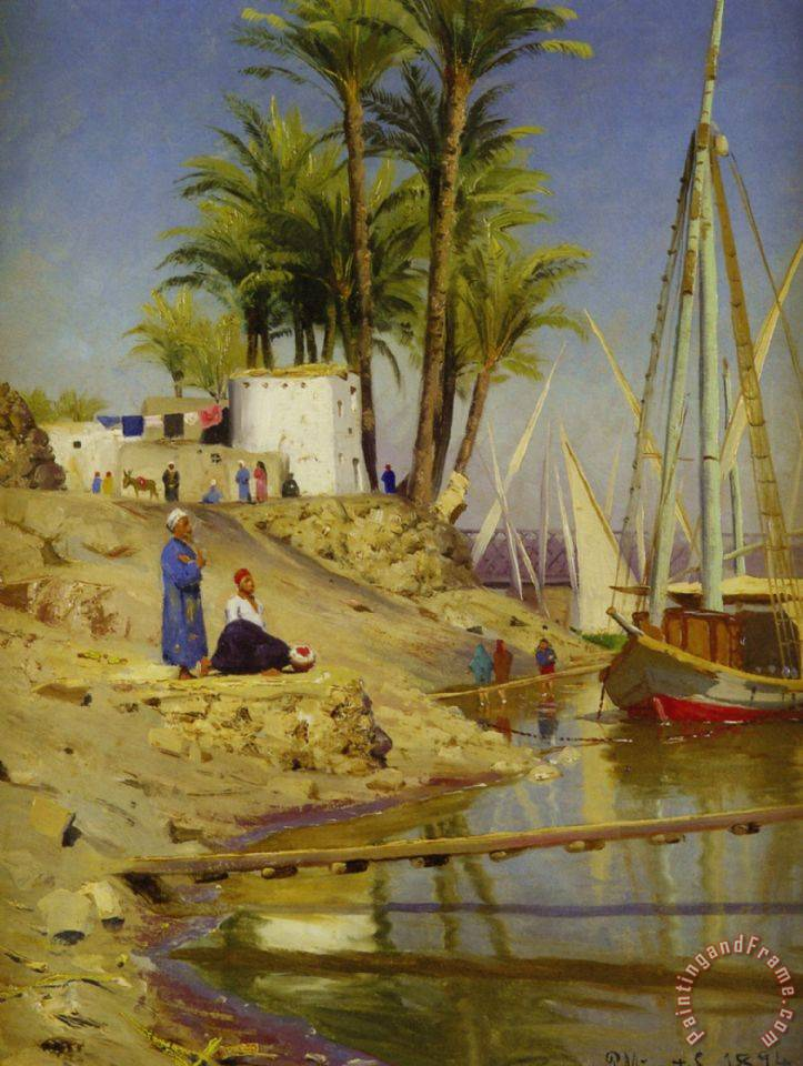 View of Cairo painting - Peder Mork Monsted View of Cairo Art Print