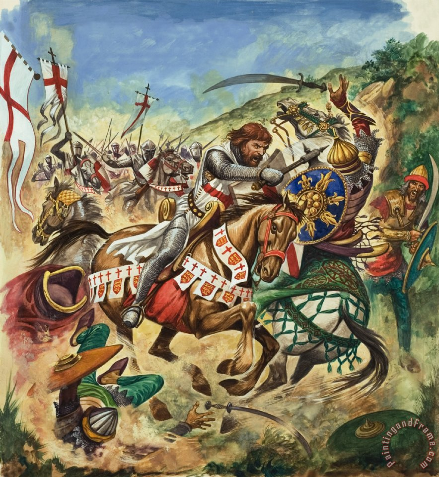 Richard the Lionheart during the Crusades painting - Peter Jackson Richard the Lionheart during the Crusades Art Print