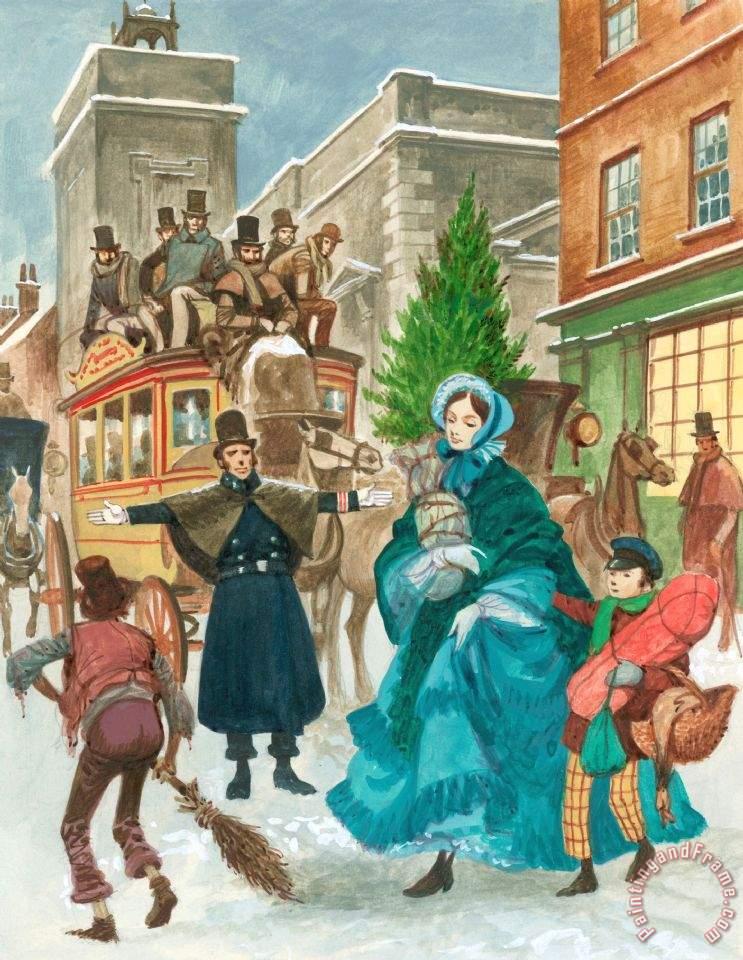 victorian christmas scenes - photo #14