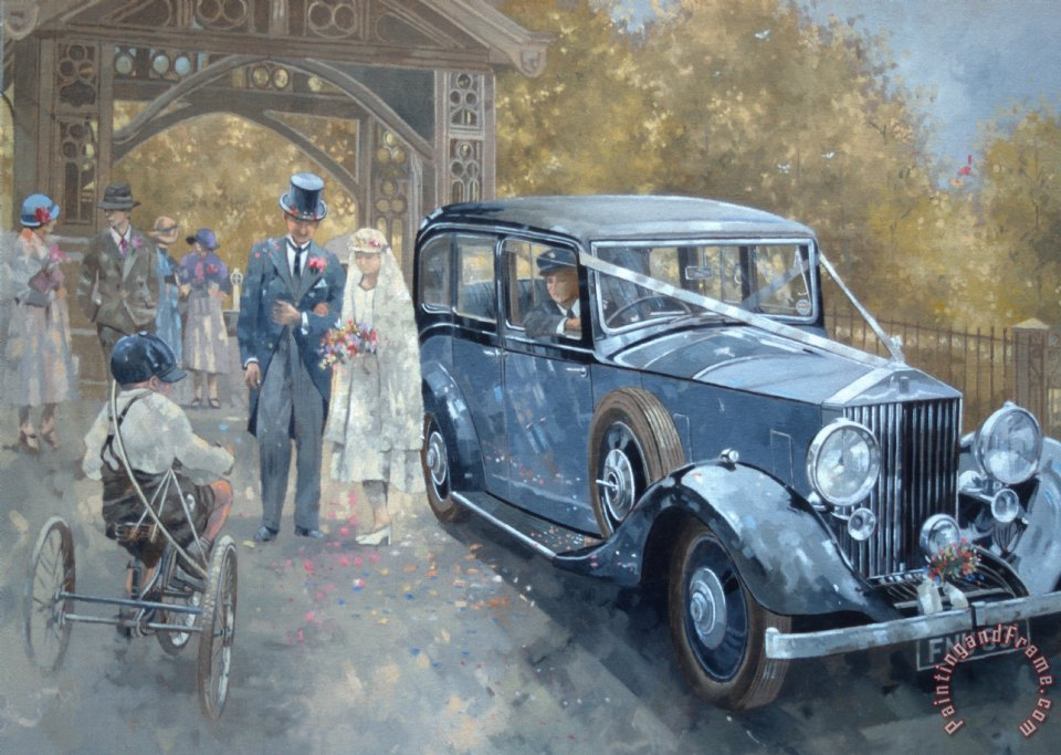 1930s Country Wedding painting - Peter Miller 1930s Country Wedding Art Print
