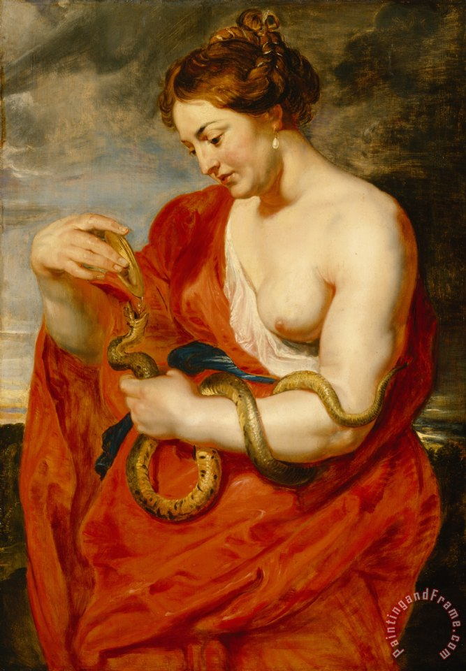 Hygeia - Goddess of Health painting - Peter Paul Rubens Hygeia - Goddess of Health Art Print