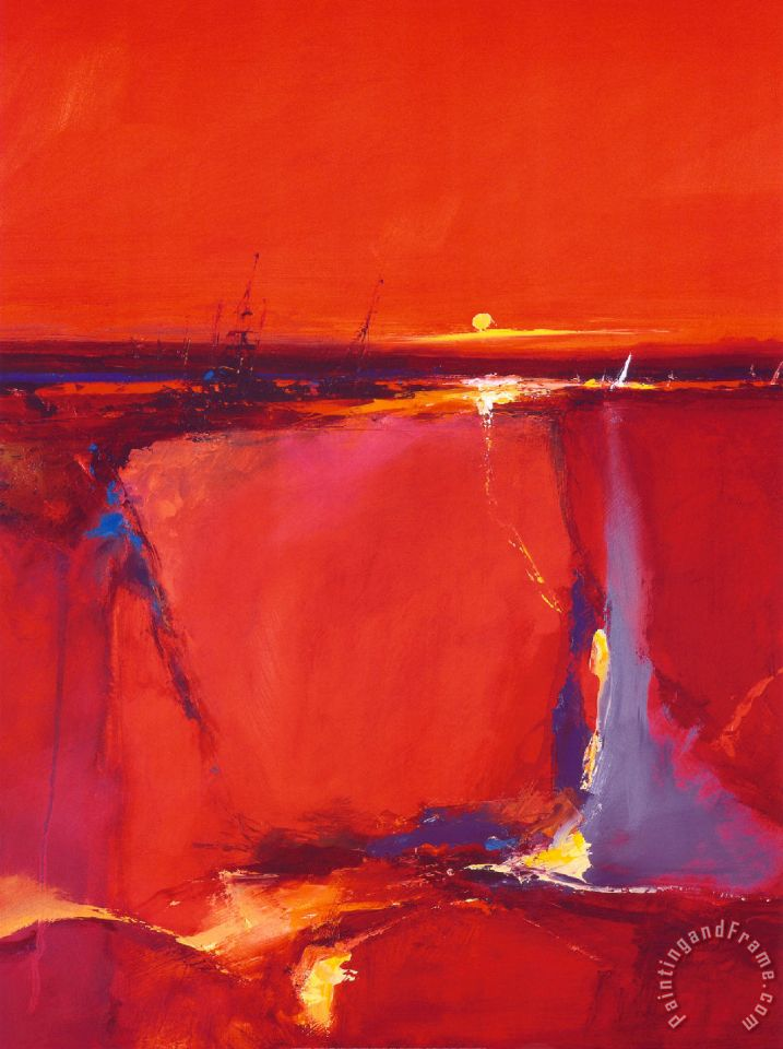 Peter Wileman Peter Wileman Red Horizon Painting Peter