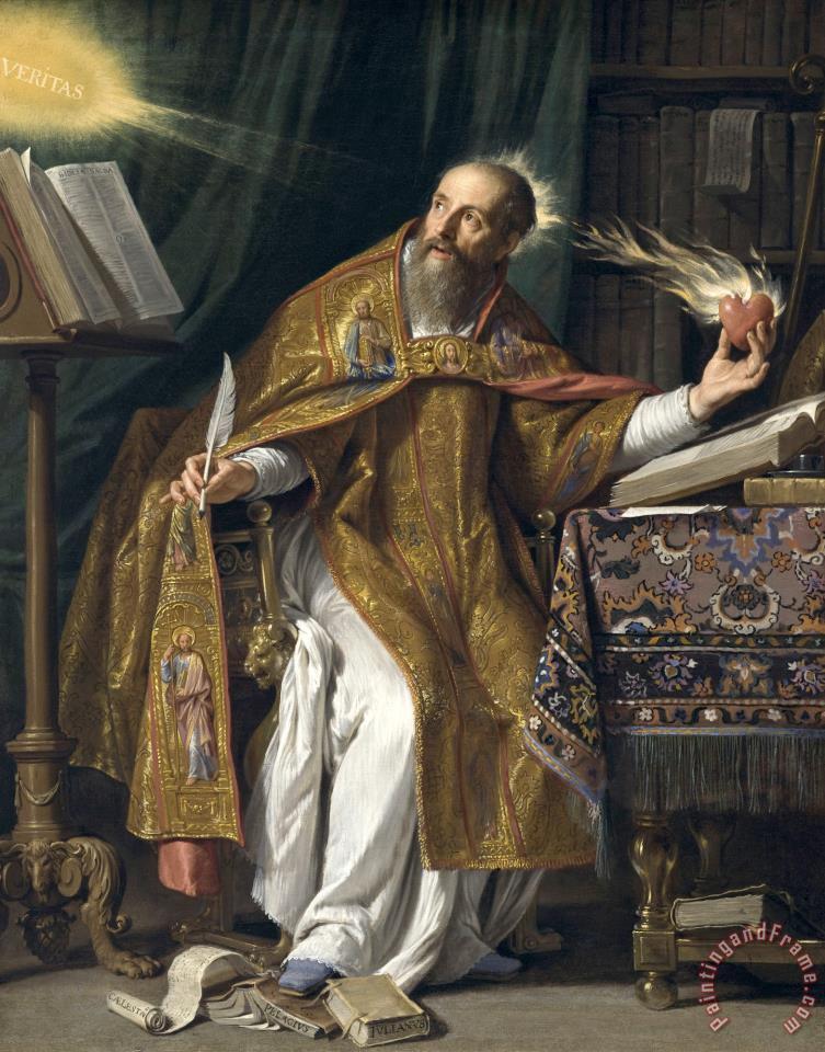 philippe de champaigne saint augustine painting saint