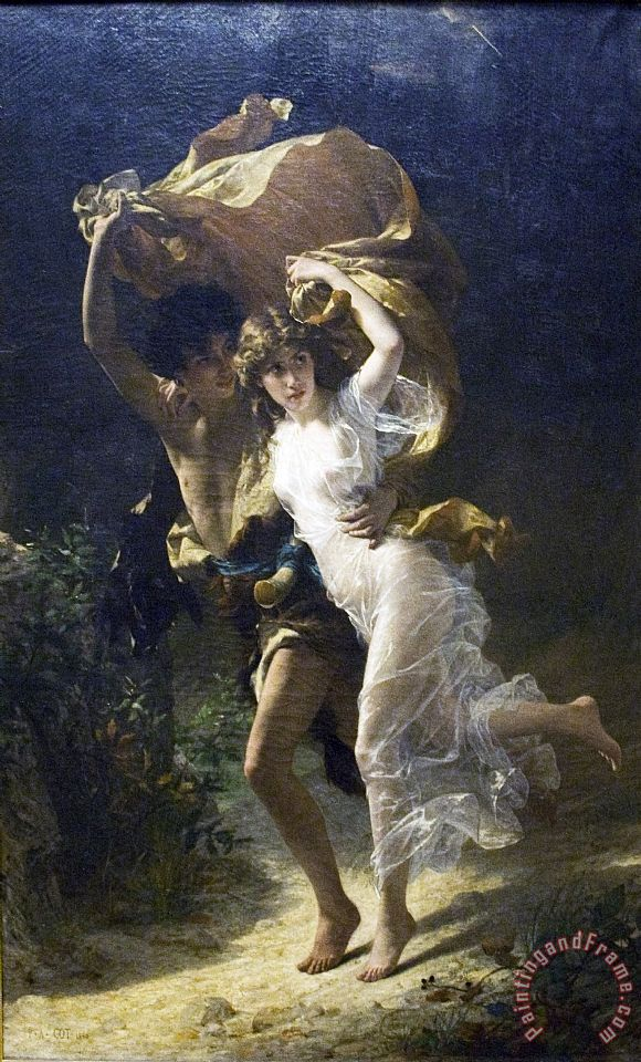 Pierre Auguste Cot The Storm Painting The Storm Print