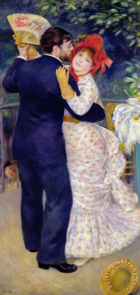 A Dance in the Country painting - Pierre Auguste Renoir A Dance in the Country Art Print