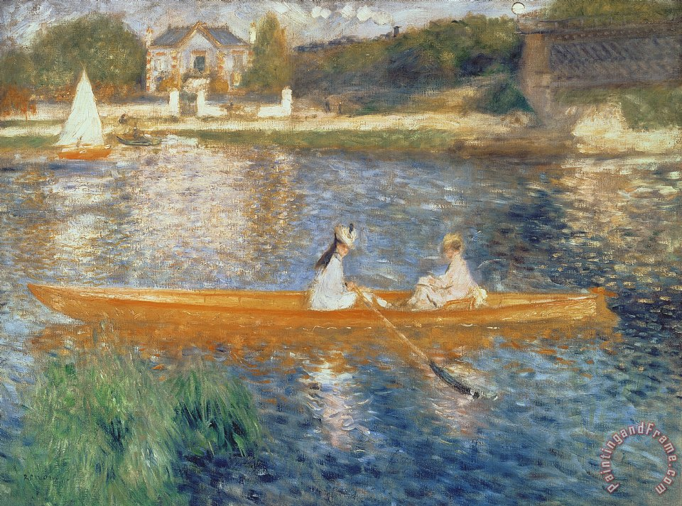 Boating on the Seine painting - Pierre Auguste Renoir Boating on the Seine Art Print