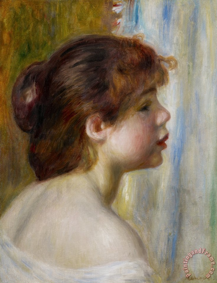 Auguste renoir head of a young girl