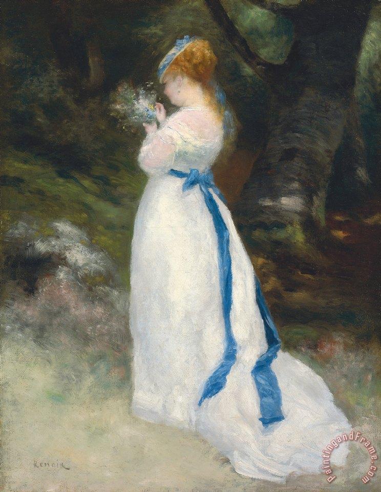 Pierre auguste renoir portrait of lise painting portrait for Bouquet de fleurs un