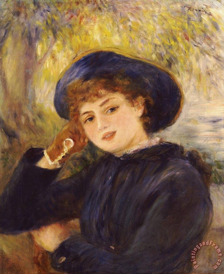 Pierre Auguste Renoir Portrait of Mademoiselle Demarsy ...