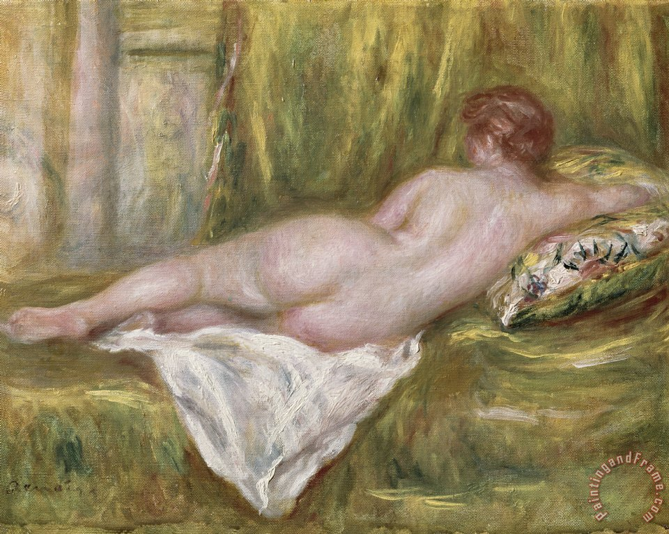 Rest after the Bath painting - Pierre Auguste Renoir Rest after the Bath Art Print
