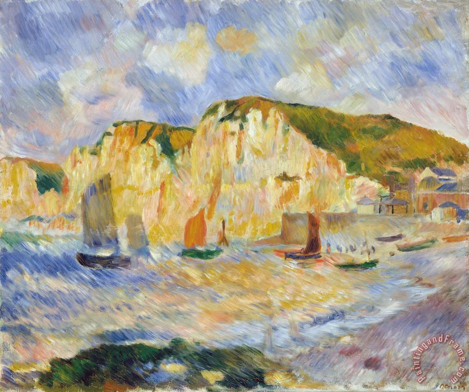 Sea And Cliffs painting - Pierre Auguste Renoir Sea And Cliffs Art Print