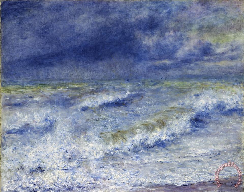 Pierre Auguste Renoir Seascape painting - Seascape print for sale