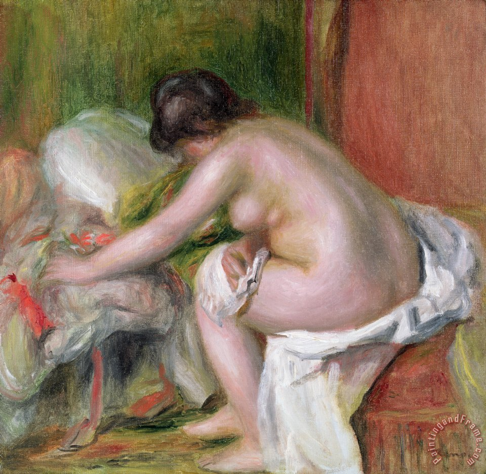 Pierre Auguste Renoir Seated Bather Art Print