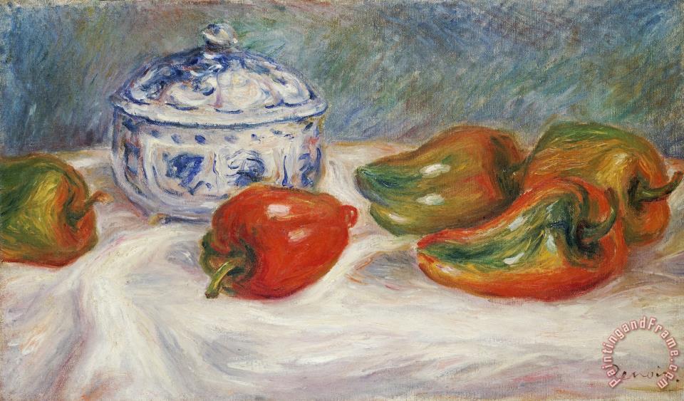 Pierre Auguste Renoir Still Life With A Blue Sugar Bowl