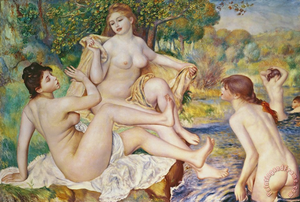 The Bathers painting - Pierre Auguste Renoir The Bathers Art Print