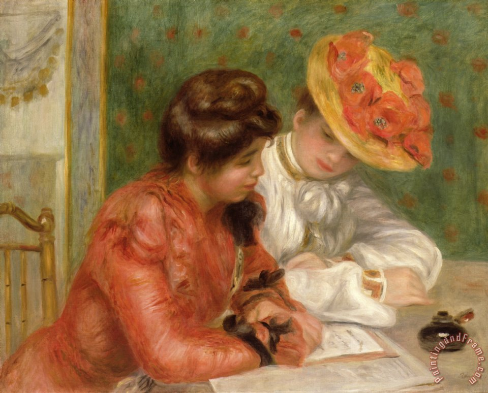 Pierre Auguste Renoir The Letter Art Painting