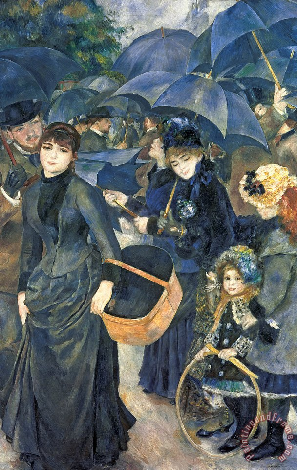Pierre Auguste Renoir The Umbrellas Art Print