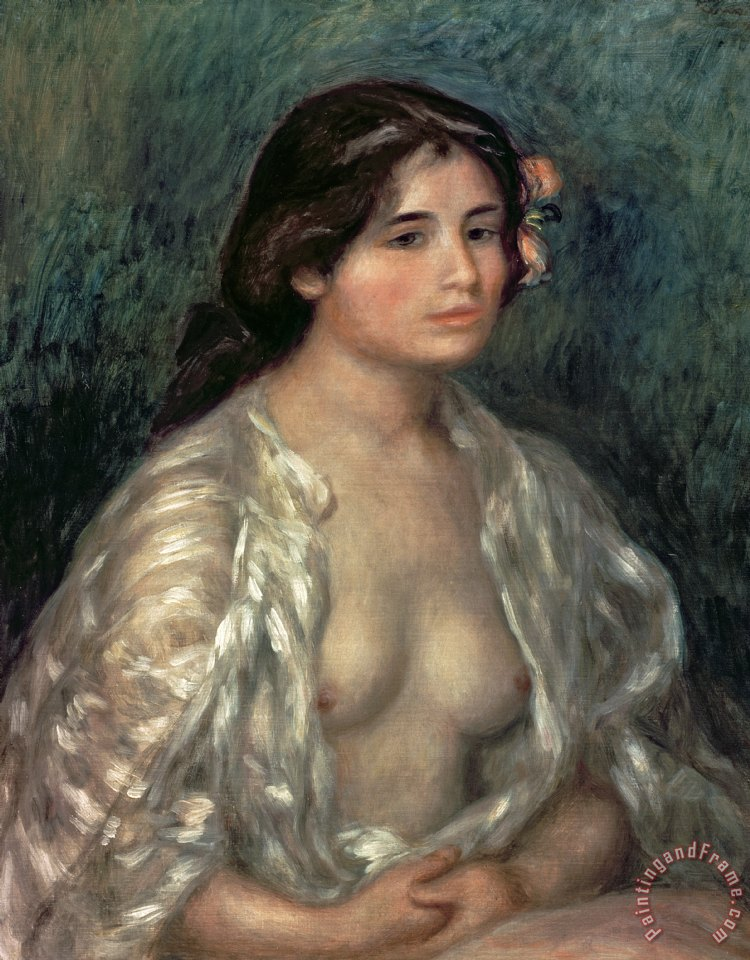 Woman Semi Nude painting - Pierre Auguste Renoir Woman Semi Nude Art Print