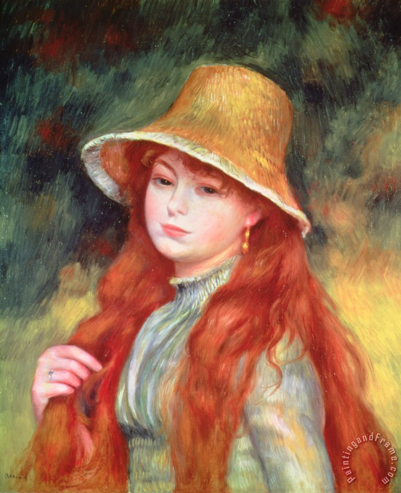 Pierre Auguste Renoir Young Girl