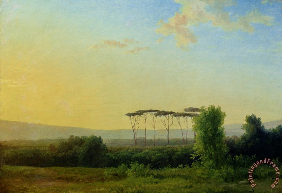 Roman Countryside painting - Pierre Henri de Valenciennes Roman Countryside Art Print