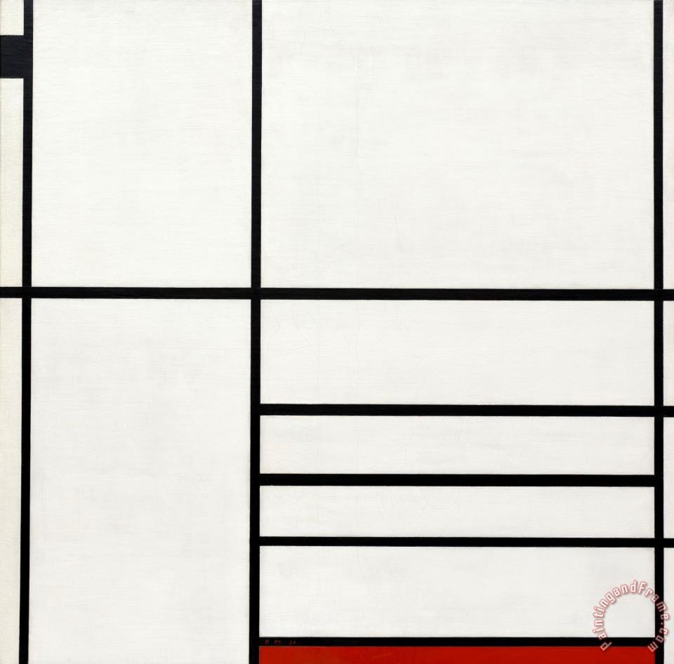 Composition in White, Black, And Red painting - Piet Mondrian Composition in White, Black, And Red Art Print