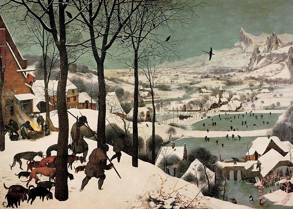 Hunters In The Snow painting - Pieter Bruegel Hunters In The Snow Art Print