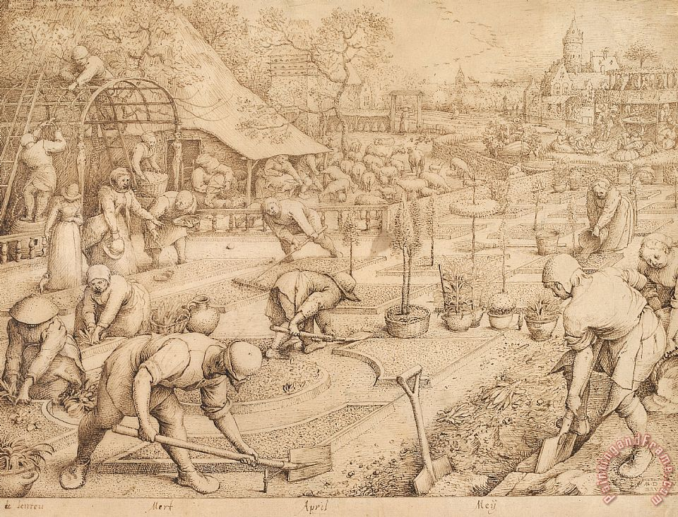 Spring Drawing painting - Pieter Bruegel Spring Drawing Art Print