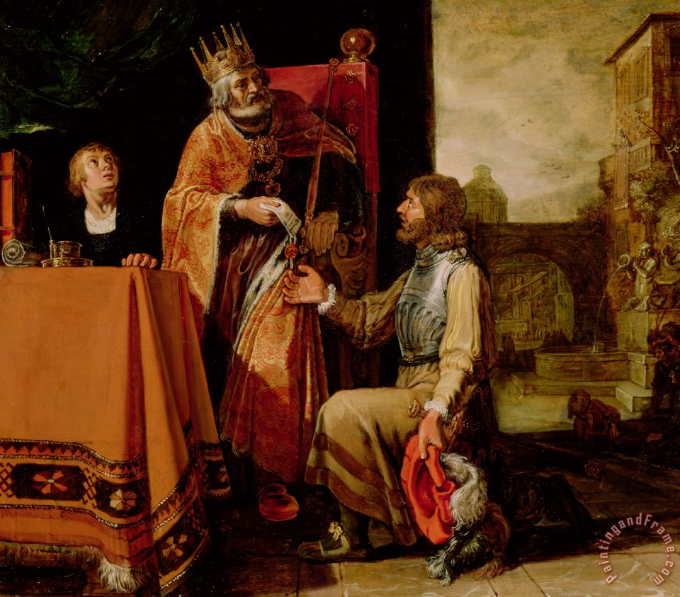 Pieter Lastman King David Handing the Letter to Uriah Art Painting