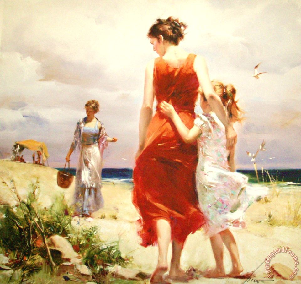 Pino Daeni Breezy Day Art Painting