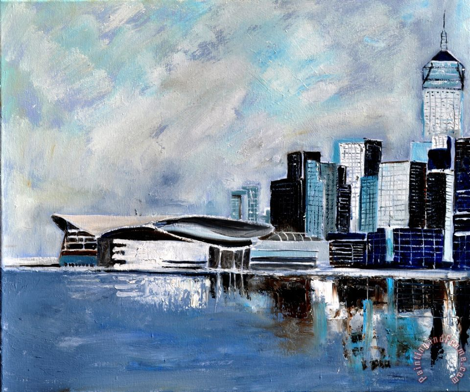 Hong Kong Art: Pol Ledent Hong Kong Painting