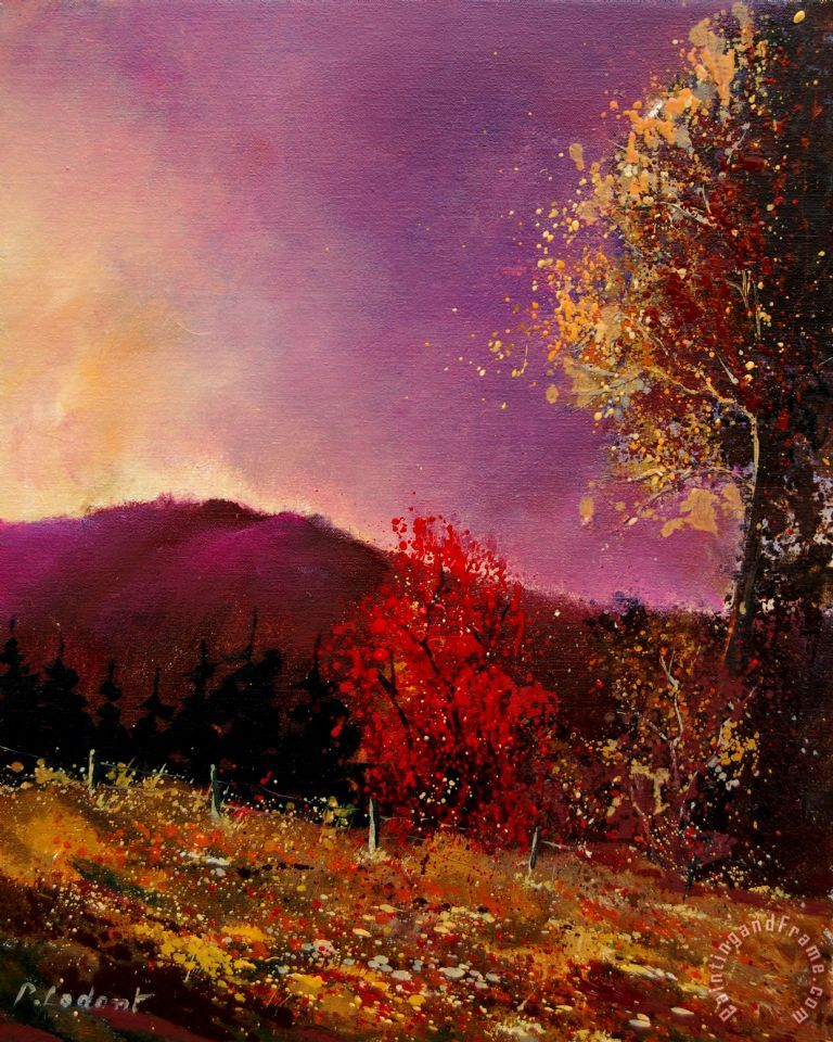 Pol Ledent Fall Colors Painting Fall Colors Print For Sale
