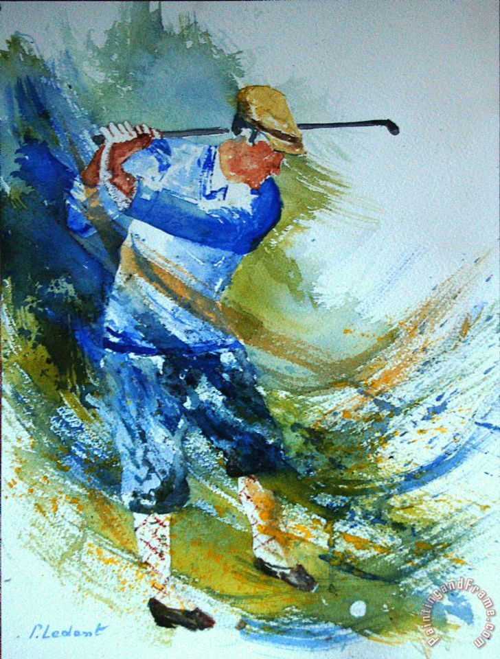 Pol Ledent Golf Player Art Print