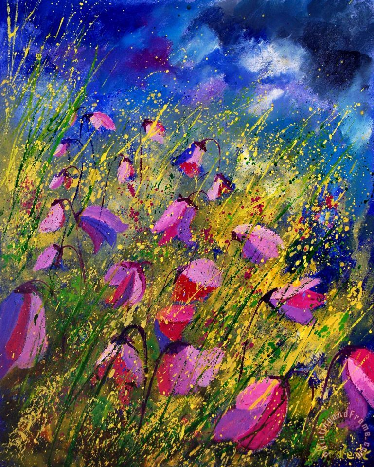Pol Ledent Purple Wild Flowers Art Print