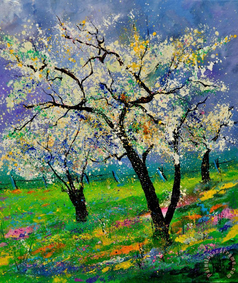 Pol ledent spring 781110 painting spring 781110 print for Spring canvas paintings