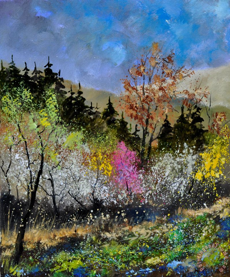 Pol ledent spring colors painting spring colors print for Spring canvas paintings