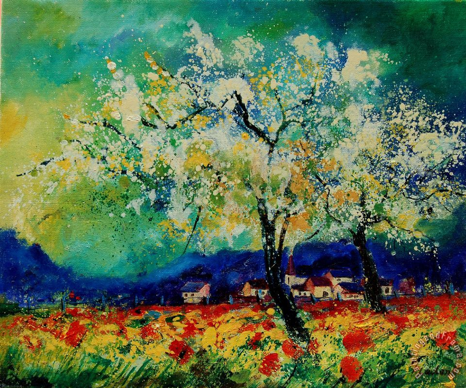 Pol ledent summer 5691235 painting summer 5691235 print for Spring canvas paintings